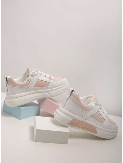 Shein Lace Up Front Skate Shoes