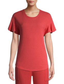 Women's Ribbed Short Sleeve Top
