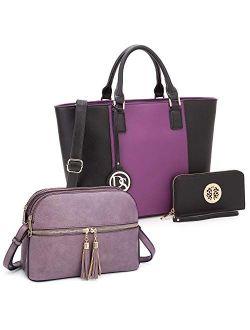 Handbags Bundle Tote Bag With Matching Wallet And Crossbody
