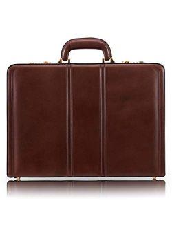 "McKleinUSA V Series, Daley, Top Grain Cowhide Leather, Leather 3.5"" Attaché Briefcase, Brown (80434), 18 L x 3 5 W x 13 H"