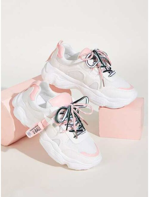 Shein Lace-up Front Chunky Sole Sneakers