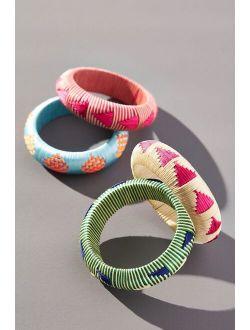 Woven Patterned Bangle Bracelet