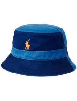 Men's Color-Blocked Chino Bucket Hat