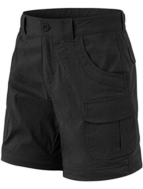 CQR Girls' Hiking Cargo Pants, UPF 50+ Quick Dry Convertible Zip Off Pants, Outdoor Camping Pants