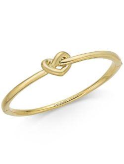 Gold-Tone, Silver-Tone or Rose-Gold Tone Love Me Knot Bangle Bracelet