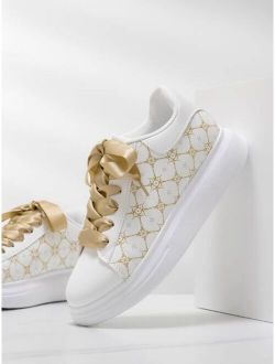 Graphic Print Skate Shoes
