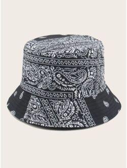 Men Paisley Bucket Hat