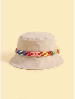 Toddler Kids Chain Decor Bucket Hat