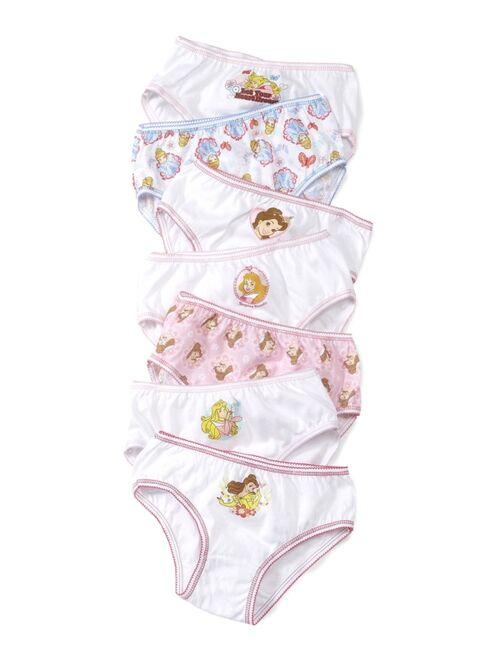Disney Princesses 7-Pack Cotton Underwear, Little Girls & Big Girls