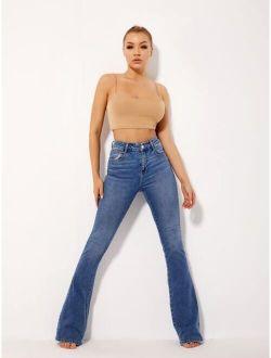 Basics High Waist Flare Leg Jeans