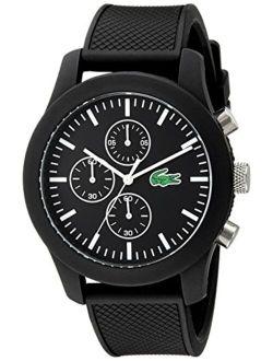 12.12 Analog Display Japanese Quartz Chronograph Watch