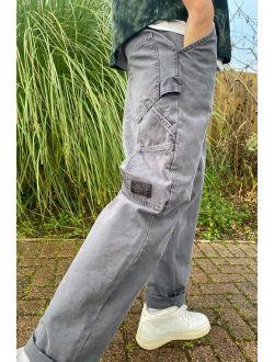 BDG Slate Grey Twill Carpenter Pant