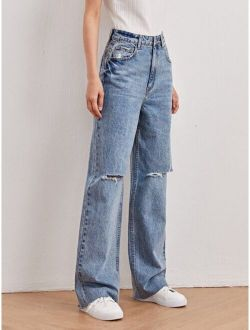 High-Waisted Vintage Boyfriend Jeans