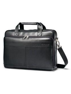Slim Leather Laptop Briefcase