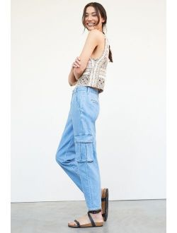 Ultra High-Rise Tapered Cargo Jeans