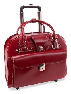 McKlein Edgebrook Leather Wheeled Laptop Briefcase