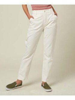 White Carpenter Straight-Leg Pants - Women