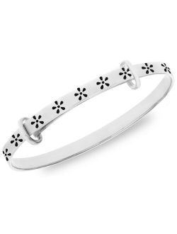Little Star Children's Flower Bangle in Sterling Silver 18 Months-3 Years