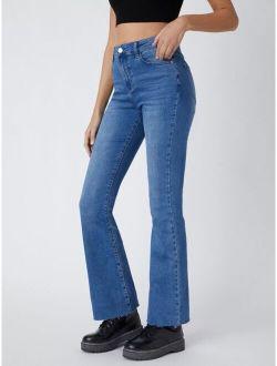 Basics Vintage High-waist Denim Flare Jeans