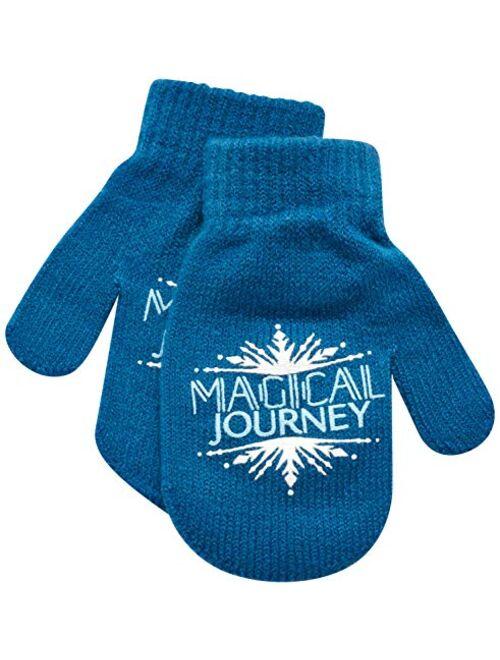 Disney Girls Frozen Winter Hat and 2 Pair Gloves or Mittens (Age 2-7)