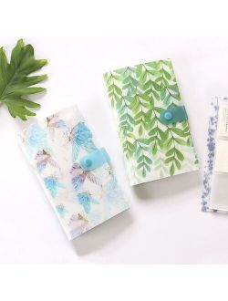 240 Bits Floral Pattern Large Capacity Business Card Holder Ticket Collection Photocard Book Card Case Card Wallet Photo Album