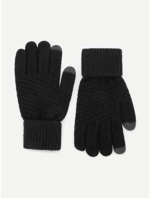 Shein Men Plain Gloves