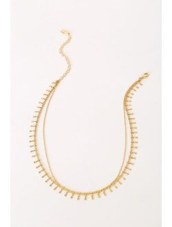 Meet Me in Mykonos 14KT Gold Layered Choker Necklace