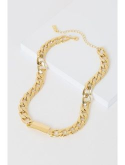 Dianza Gold Chain Choker Necklace