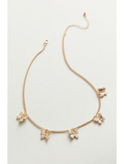Urban Outfitters Butterfly Charm Choker Necklace