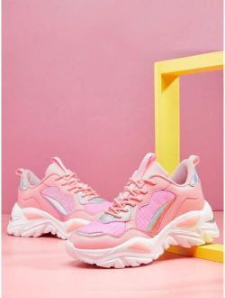 Holographic Panel Chunky Sneakers