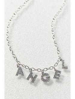 Rhinestone Angel Choker Necklace
