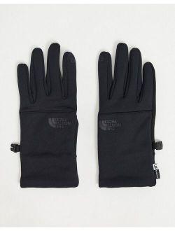 Etip recycled glove in black