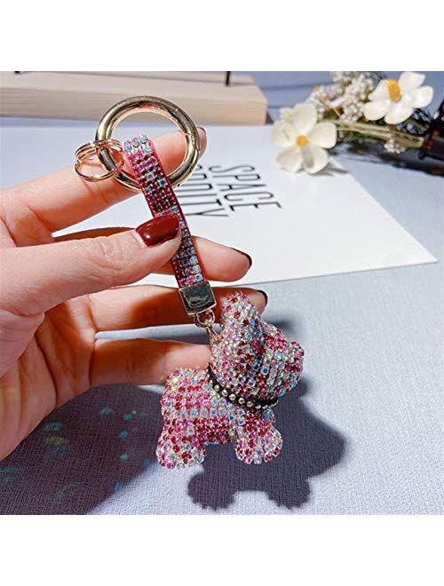 JZYZSNLB Keychain Keychain Lanyard Dog Keychains Women Bag Charms Men Car Key Ring Jewelry (Color : Blue)