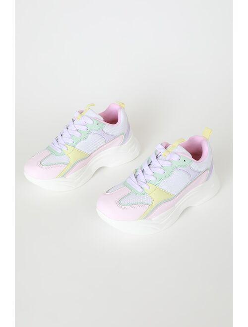 Lulus Adrien Multicolor Sneakers