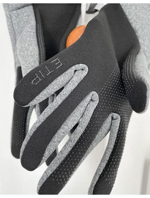 The North Face E-tip recycled glove in gray