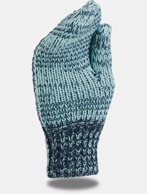 Under Armour Girls' UA Shimmer Knit Mittens