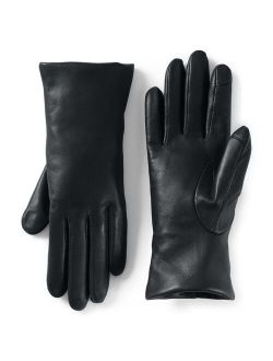 Nds' End Touch Screen Compatible Leather Gloves With Cashmere Lining