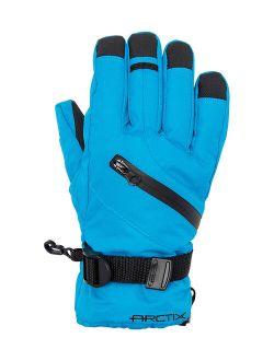 ARCTIX Marina Blue Buckle Zip Downhill Gloves