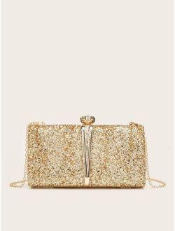 Glitter Chain Clutch Bag