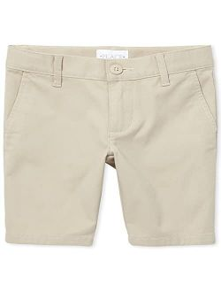 Girls' Button Closure Casual Chino Shorts