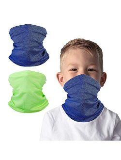 Kids Face Cover Neck Gaiter for Cycling Hiking Fishing Sport Outdoor, Washable and Reusable