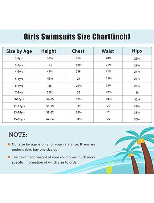Girls Two Piece Swimsuits Tankini Bathing Suit Kids Hawaiian Floral Swimwear Set 3-16 Years