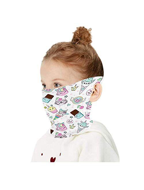 HAO HONG Cooling Kids Face Scarf Cover-Dust Bandana Neck Gaiter Ear Loops Multifunction Headband Balaclava Outdoors Dustproof Lightweight