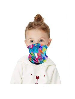 HAO HONG 1 PC Cooling Kids Face Scarf Mask-Dust Bandana Neck Gaiter Multifunction Headband Boy Girl Balaclava Outdoors Dustproof Lightweight