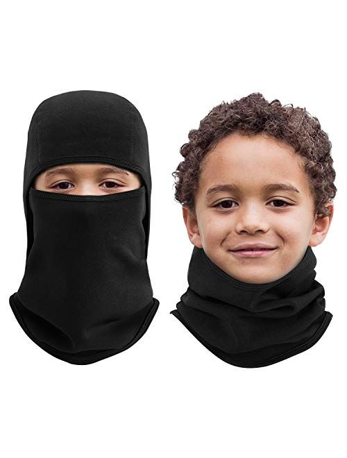 Aegend Kids Balaclava Windproof Ski Face Warmer for Cold Weather Winter Sports Skiing, Running, Cycling, 1 Piece, 4 Colors