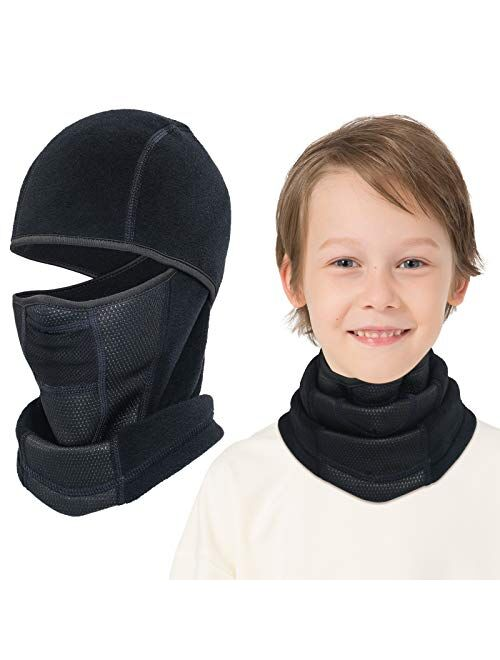 Venswell Kids Balaclava Windproof Ski Mask Winter Face Warmer for Cold Weather Boys Girls