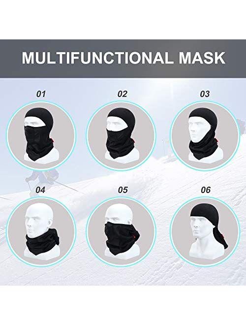 Breathable Kids Balaclava Ski Mask, Waterproof Face Mask for Boys Girls Youth