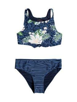 Big Girls Heaven Wave 2 Piece Crop Top Bikini Set