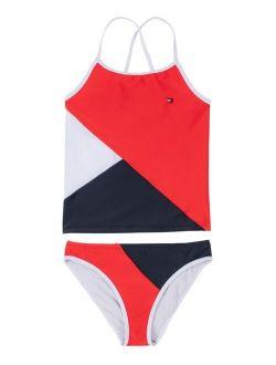 Big Girls Colorblock Two Piece Swimsuit Set