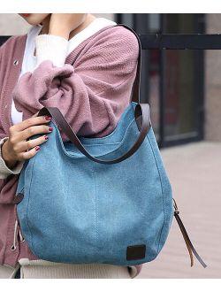 JellyYoo Blue Canvas Hobo Bag